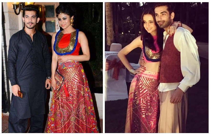 Sanaya Irani S Wedding Party Outfit Matches Mouni Roy