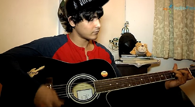 Playing guitar as a hobby