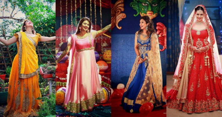 Divyanka Tripathi Mehndi Ceremony : A quick run down through divyanka tripathi s wedding wardrobe