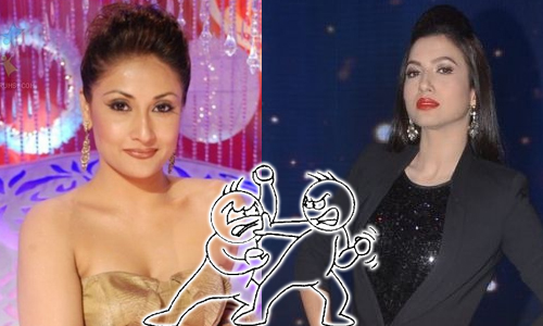 Bigg Boss ex-contestants Urvashi Dholakia and Gauahar Khans.