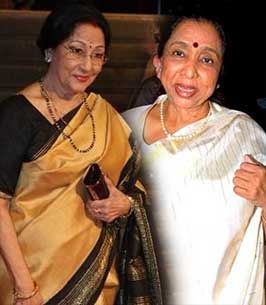 asha bhosle and mala sinha