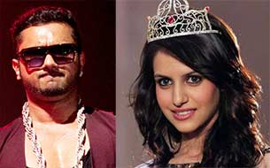 honey singh and Miss India Koyal Rana