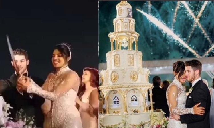 Twitterati Has Funniest Reactions On Priyanka S 18 Feet Wedding Cake