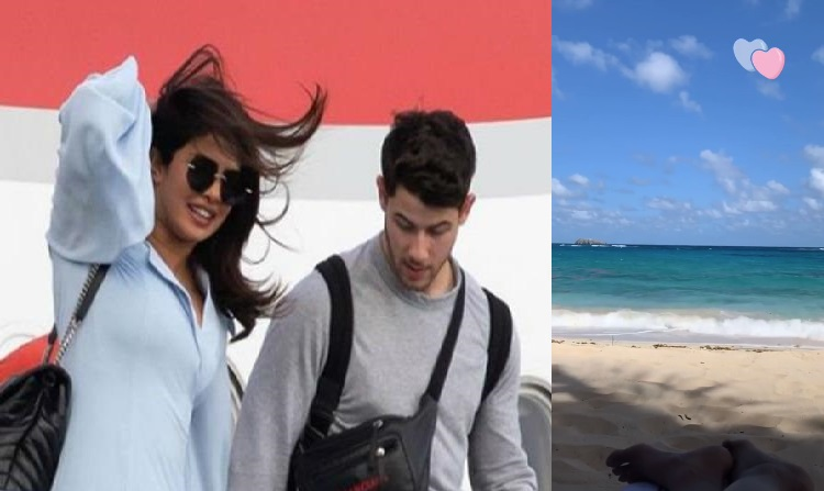priyanka nick spotted at their honeymoon destination