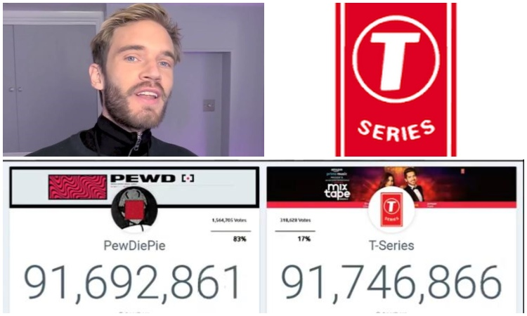 T-Series bags No  1 YouTube channel spot