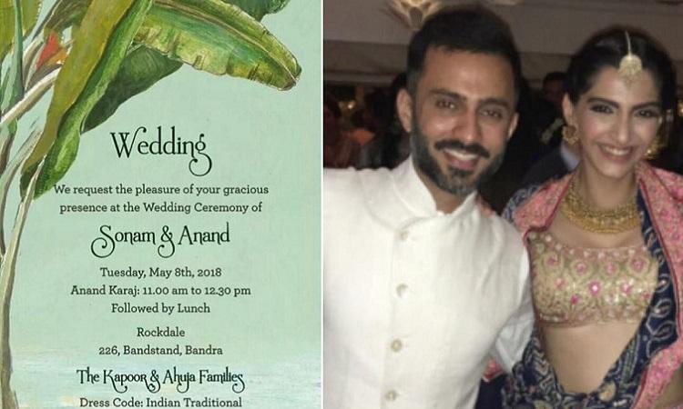 Image result for Sonam and anand e-invite wedding invitation