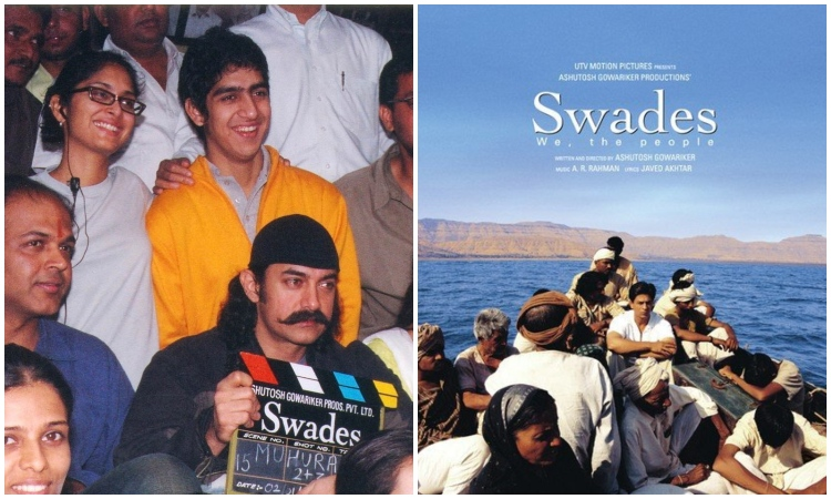 When Aamir was snapped on sets of Swades but SRK seems to be
