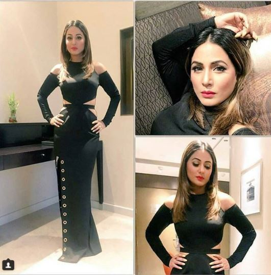 Stylebuzz With Hina Khan S Black Dress Saturday Nights Are Sorted