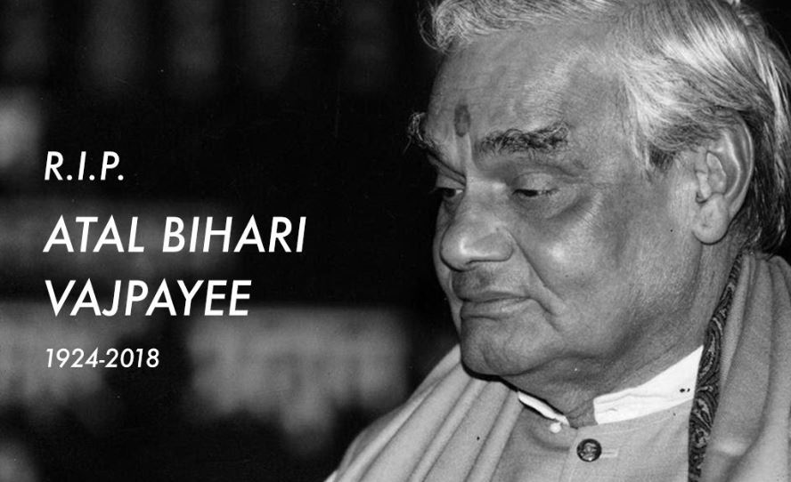 Image result for images of Smriti Irani, Karan V Grover, Vir Das mourn the death of former Prime Minister Atal Bihari Vajpayee