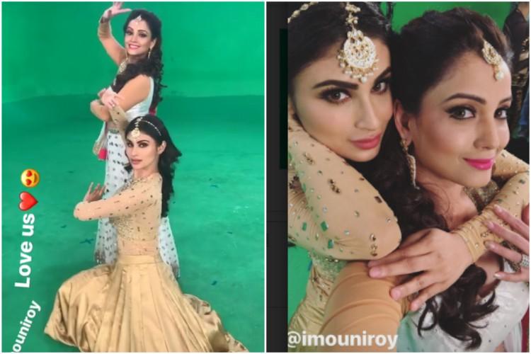 Checkout: Mouni Roy and Adaa Khan shooting for Naagin 3